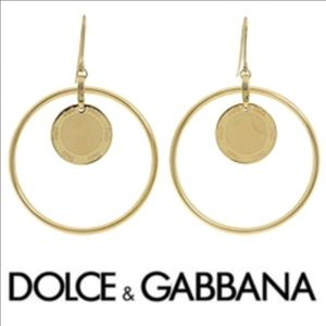 Authentic Dolce & Gabbana Gold Hoops